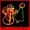 La lumière de motif d'arbre de décoration de bonhomme de neige de corde de Noël