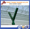新しい設計されていた様式によって電流を通される鋼線の網空港塀