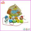 La chaîne de caractères éducative de jeu de bébé animal en bois de conception perle le jouet (W11E009)