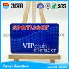 Cartões VIP de associação com número de série e informações pessoais