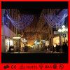 Luz líquida de suspensão do diodo emissor de luz do Natal ao ar livre da decoração da rua