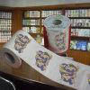 Le papier de toilette estampé conçoit le tissu de salle de bains en gros de nouveauté de fournisseur