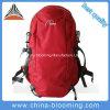 El subir de montaña que acampa al aire libre yendo de excursión el morral del bolso que viaja de los deportes