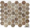 Neueste Technologie-volle Karosserien-hölzernes Hexagon-Glas-Mosaik