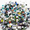 Mischfarben-Beutel-Nagel-Funkeln-Kristallglasrhinestone-Raupe (Mischfarbe FB-ss10)