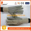A broca 2017 do algodão de Ddsafety com os pontos pretos em reforços da palma dois suporta com pulso do Knit