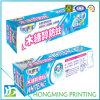 Rectángulos de papel impresos a todo color de la crema dental