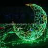 De Decoratie van Chirstmas van de Lichten van het park siert LEIDENE Maan