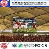 GroßhandelsP10 im Freien farbenreicher RGB LED-Baugruppen-Bildschirm bekanntmachend