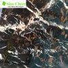 Золотистый мрамор черноты лотоса с белизной Veins сляб, мраморный цветы настила