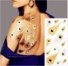 Pegatinas temporal de tatuajes etiqueta engomada del arte del tatuaje de la moda oro metálico
