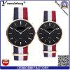 Nuevo reloj de nylon hecho punto de la promoción de los relojes de Mens de la alineada ocasional del reloj de los pares de la tira de la OTAN de la lona del reloj de manera de la llegada Yxl-495