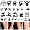 Tatuaje temporal impermeable de la carrocería de la etiqueta engomada del tatuaje de la Navidad