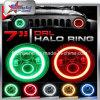 Fábrica directa! ! DOT SAE E-MARK 7 Faro de LED RGB Halo Anillos Angel Eyes Faros Blueooth Control Smartphone APP para Jeep Wrangler Jk / Fj / Cj