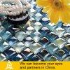 装飾の蜂蜜シリーズ(蜂蜜の黄色か青のピンクの組合せ)のための熱い販売の特別なパンの形カラーガラスモザイク