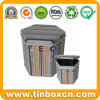 Hexágono caja de la lata de café para el almacenamiento de alimentos, café Envase del estaño
