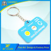 Preço de fábrica personalizado anel de chave de borracha de PVC macio simples para promoção (XF-KC-P29)