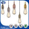 Lámpara pendiente de la vendimia de DIY con el sostenedor de aluminio de la lámpara E27