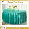 Pano de tabela da decoração do evento do banquete do casamento do cetim da alta qualidade