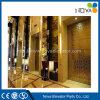 Levage d'ascenseur de passager d'hôtel avec la cabine d'or d'acier inoxydable de miroir
