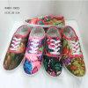 最新のFlat女性ズック靴の女性の注入の布の靴(1010-22年)