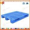 スタック可能格子プラスチックパレット平らな倉庫の皿パレット(ZHp13)