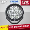 Luz auto redonda del coche de la luz LED de la linterna del punto 7inch 70W LED de la iluminación campo a través (PD770)