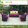 フォーシャンの屋外の家具のPEの藤のソファーセット