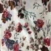 2016多ビロード花の印刷された編まれたファブリック織物