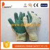 Перчатка хлопка зеленая резиновый (DCL314)