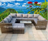 Modern Europe Hotel Rattan Patio Outdoor Furniture (GN-9104S)