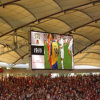 InnenP10 SMD LED-Bildschirmanzeige-videowand für Stadion, RGB LED, der Schaukasten bekanntmacht