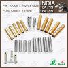 8734 7034 Pin de prise de 7.0mm 8.7mm 15/16AMP Afrique du Sud Inde avec le solide creux de rabattement de Pin du laiton 10/16A