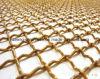 ひだを付けられた正方形の銅線の網