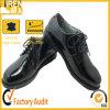 2015高品質の耐久の黒い本革軍人のオフィスの靴