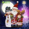 2015 bonhomme de neige Reindeer et père noël (NF360090) de Noël Resin Christmas