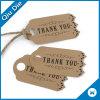 Etiquetas recicladas de la caída del regalo del papel de Kraft