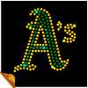 Letters Iron de Cool Bling a del oro en Rhinestone Designs (ix)