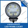 véhicule tous terrains de lumière de travail 4inch DEL de lampe ronde de travail de 18W/Boat/ATV/UTV/SUV