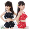 Vêtements de bain mignons de petites filles de type de léopard