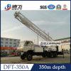 Plataforma de perforación montada carro de la circulación reversa de Dfc-350A los 350m