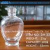 hohe Glasflasche des Feuerstein-20ml für Nagellack-Flasche mit Schutzkappen