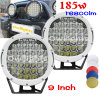 185W diodo emissor de luz Driving Lights do diodo emissor de luz Work Light Car 9inch para ATV SUV Boats