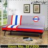 Sofá impreso de la cama de sofá del Futon el dormir de la insignia