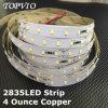 24VDC lumière de bande de cuivre continuelle de câble du courant 2835 4ounce DEL