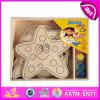 2014 het nieuwe Houten Speelgoed van de Verf van het Spel van Jonge geitjes, het Onderwijs Houten Speelgoed van de Verf van Kinderen Popualr, het Hete Verkopende Houten Speelgoed W03A068 van de Verf DIY