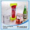 Transparentes Plastikpaket, gefalteter Kasten
