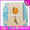 새로운 디자인 유아 교육 장난감 나무로 되는 수수께끼 시계 W14k008