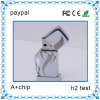 Unidad flash USB populares eslabón giratorio del metal, impresión grande de disco USB área de metal