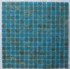 Mosaico azul del vidrio de la piscina